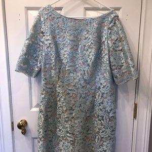Eliza J Light Blue Lace Dress